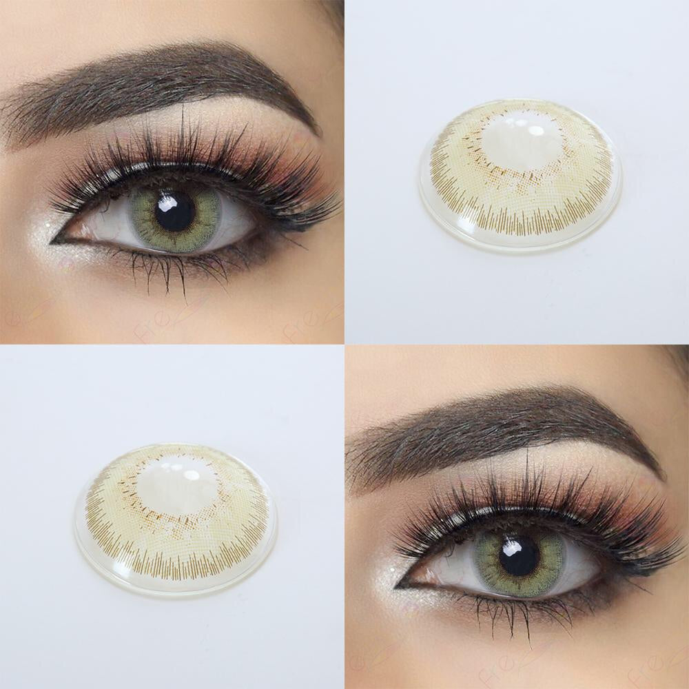 FRESHGO SILKY GREEN COSMETIC COLORED CONTACT LENSES FREE SHIPPING - EyeQ Boutique