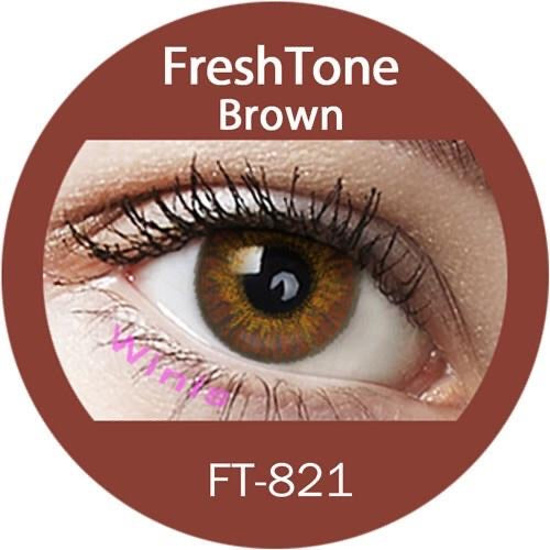 FRESHTONE BROWN COLORED CONTACT LENSES COSMETIC FREE SHIPPING