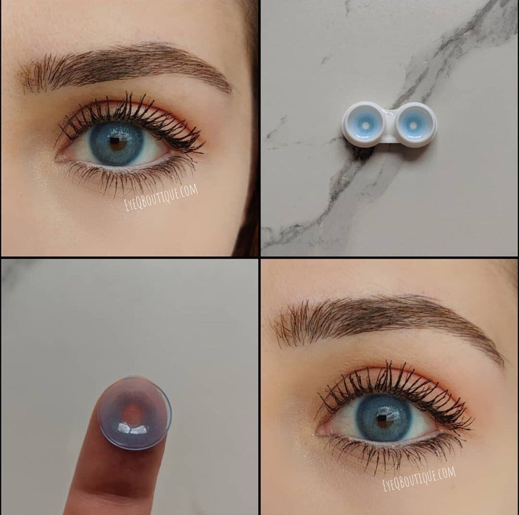 FRESHLADY PIXIE BLUE COLORED CONTACT LENSES COSMETIC FREE SHIPPING - EyeQ Boutique