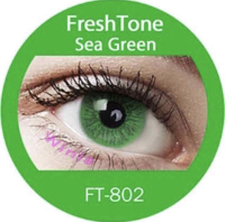 FRESHTONE SEA GREEN COSMETIC COLORED CONTACT LENSES FREE SHIPPING - EyeQ Boutique