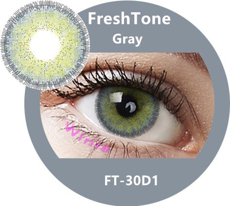 FRESHTONE DIVA GRAY (GREY) COSMETIC COLORED CONTACT LENSES FREE SHIPPING - EyeQ Boutique