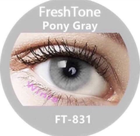 FRESHTONE SUPER NATURALS PONY GRAY (GREY) COLORED CONTACT LENSES COSMETIC  FREE SHIPPING (HIDROCOR)