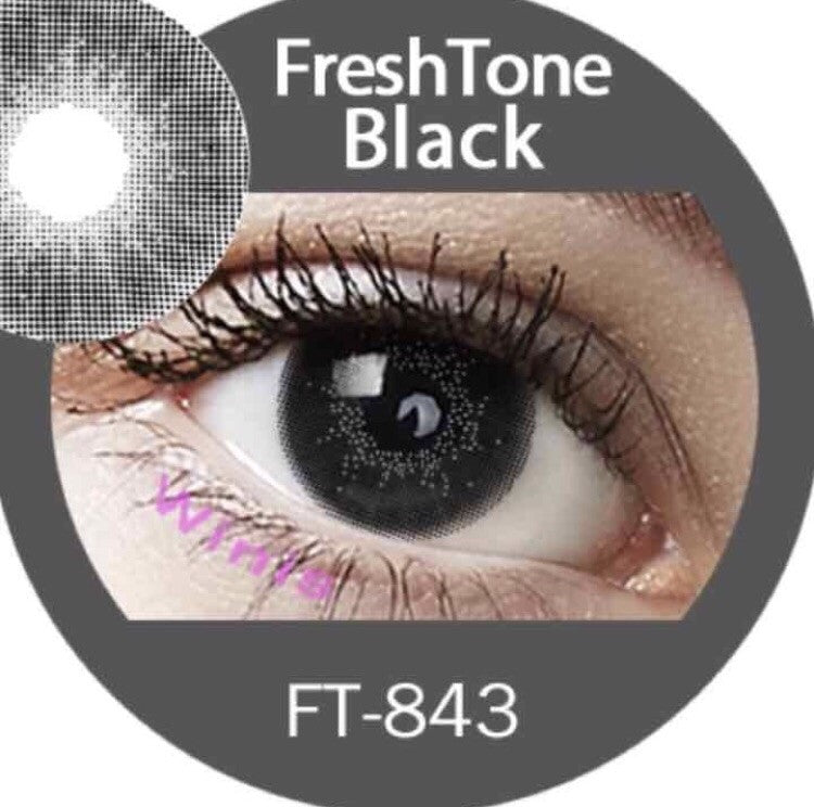 FRESHTONE SUPER NATURALS BLACK COSMETIC COLORED CONTACT LENSES FREE SHIPPING - EyeQ Boutique