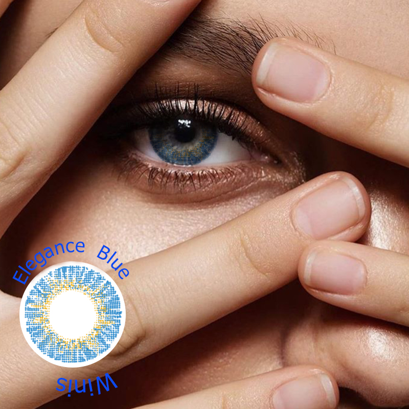 FRESHTONE ELEGANCE BLUE COLORED CONTACT LENSES COSMETIC FREE SHIPPING