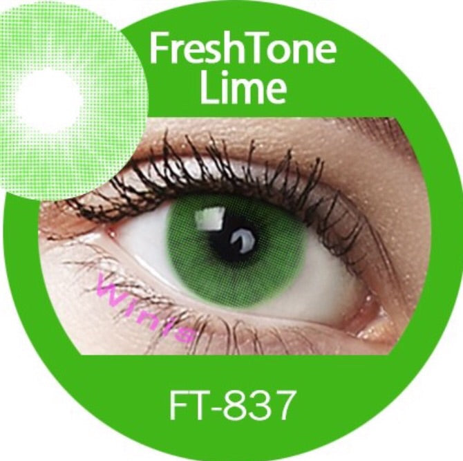 FRESHTONE SUPER NATURALS LIME COSMETIC COLORED CONTACT LENSES FREE SHIPPING (HIDROCOR) - EyeQ Boutique