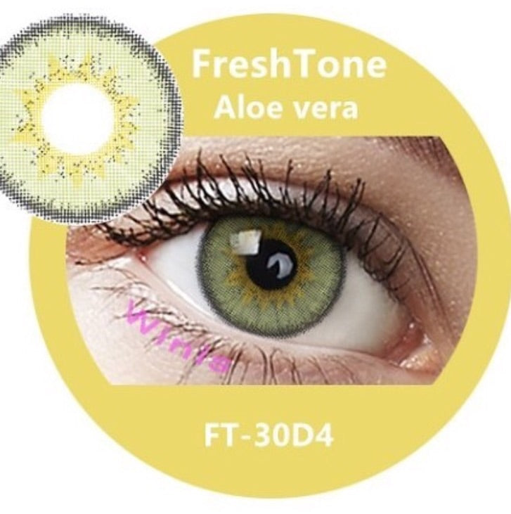 FRESHTONE DIVA ALOE VERA COSMETIC COLORED CONTACT LENSES FREE SHIPPING - EyeQ Boutique