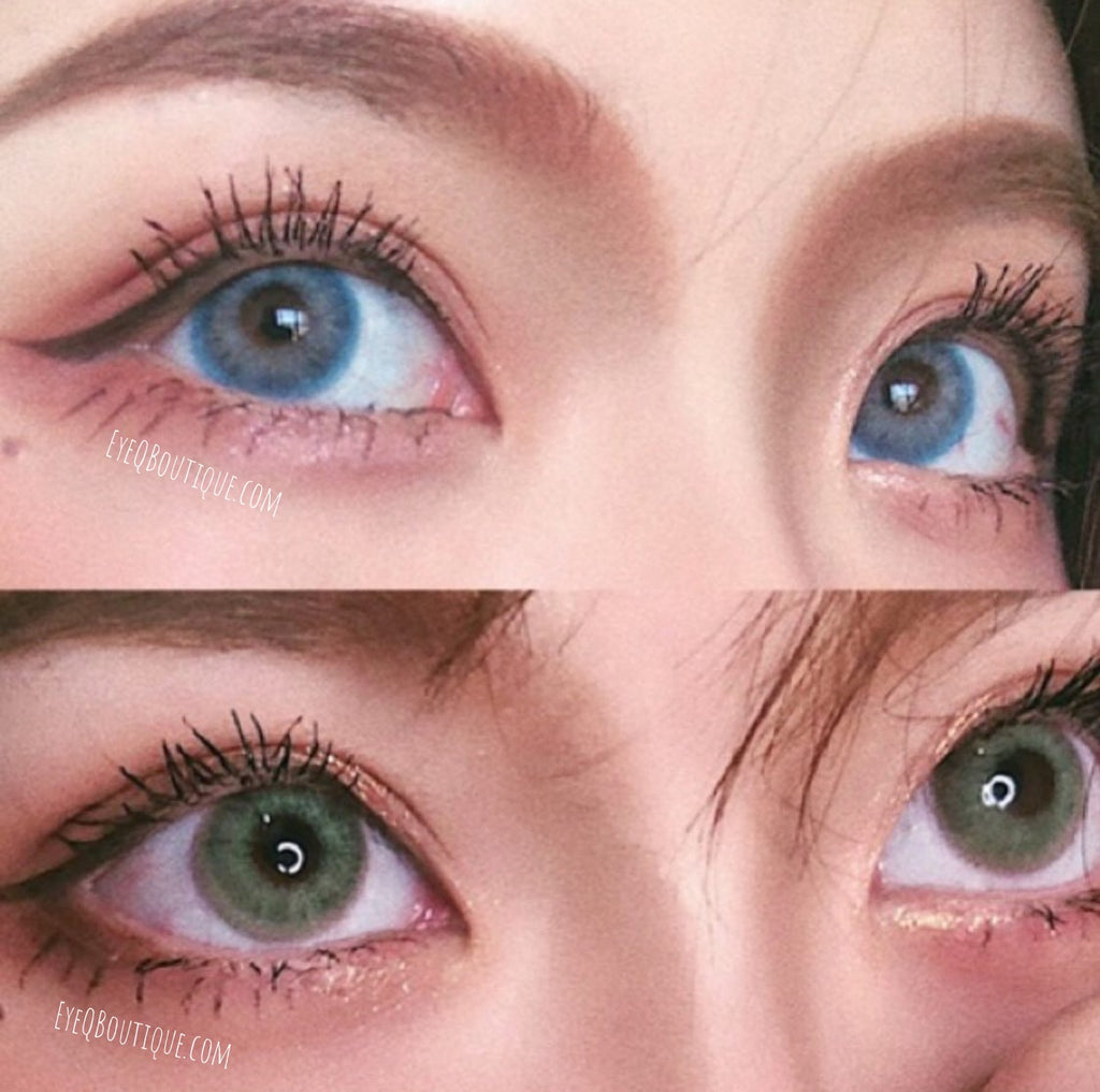 FRESHLADY WILDCAT BLUE COLORED CONTACT LENSES COSMETIC FREE SHIPPING