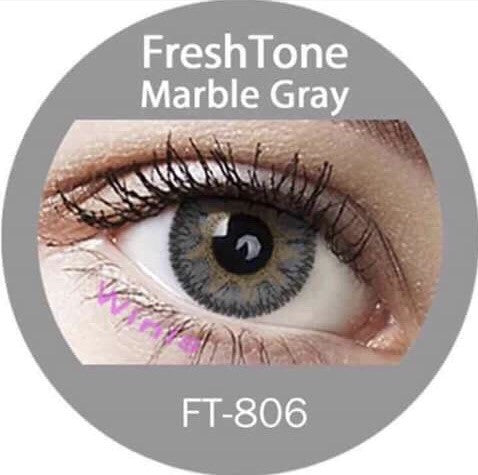 FRESHTONE MARBLE GRAY (GREY) COSMETIC COLORED CONTACT LENSES FREE SHIPPING - EyeQ Boutique