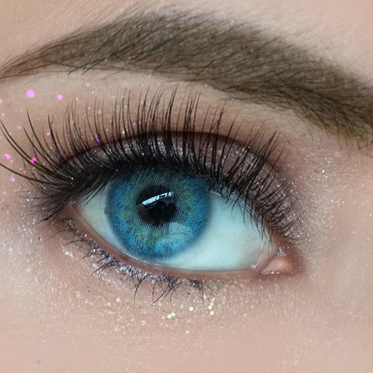 FRESHLADY RUSSIAN BLUE COLORED CONTACT LENSES COSMETIC FREE SHIPPING - EyeQ Boutique