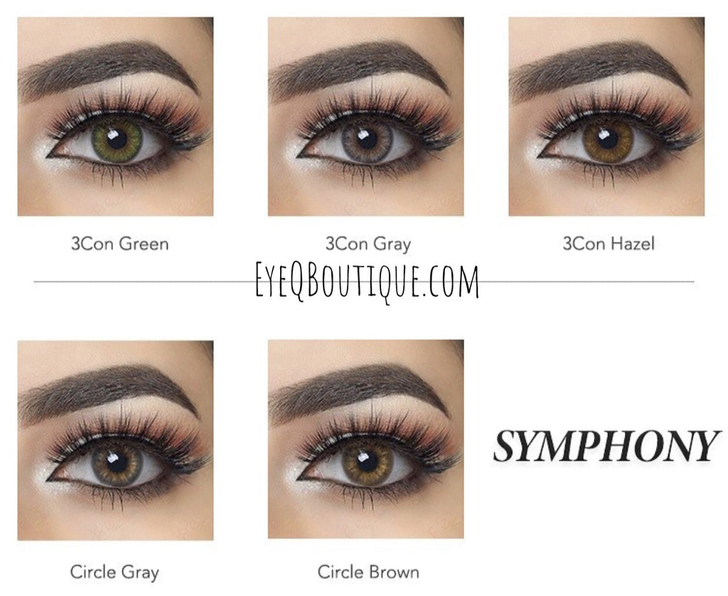 FRESHGO CIRCLE BROWN COSMETIC COLORED CONTACT LENSES FREE SHIPPING - EyeQ Boutique