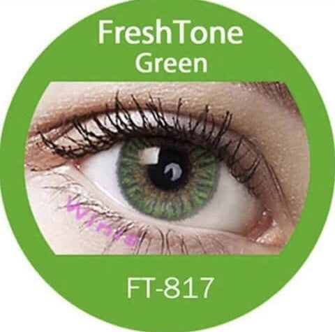FRESHTONE GREEN COSMETIC COLORED CONTACT LENSES FREE SHIPPING - EyeQ Boutique