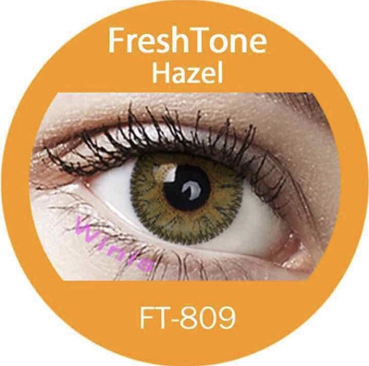 FRESHTONE HAZEL COSMETIC COLORED CONTACT LENSES FREE SHIPPING - EyeQ Boutique
