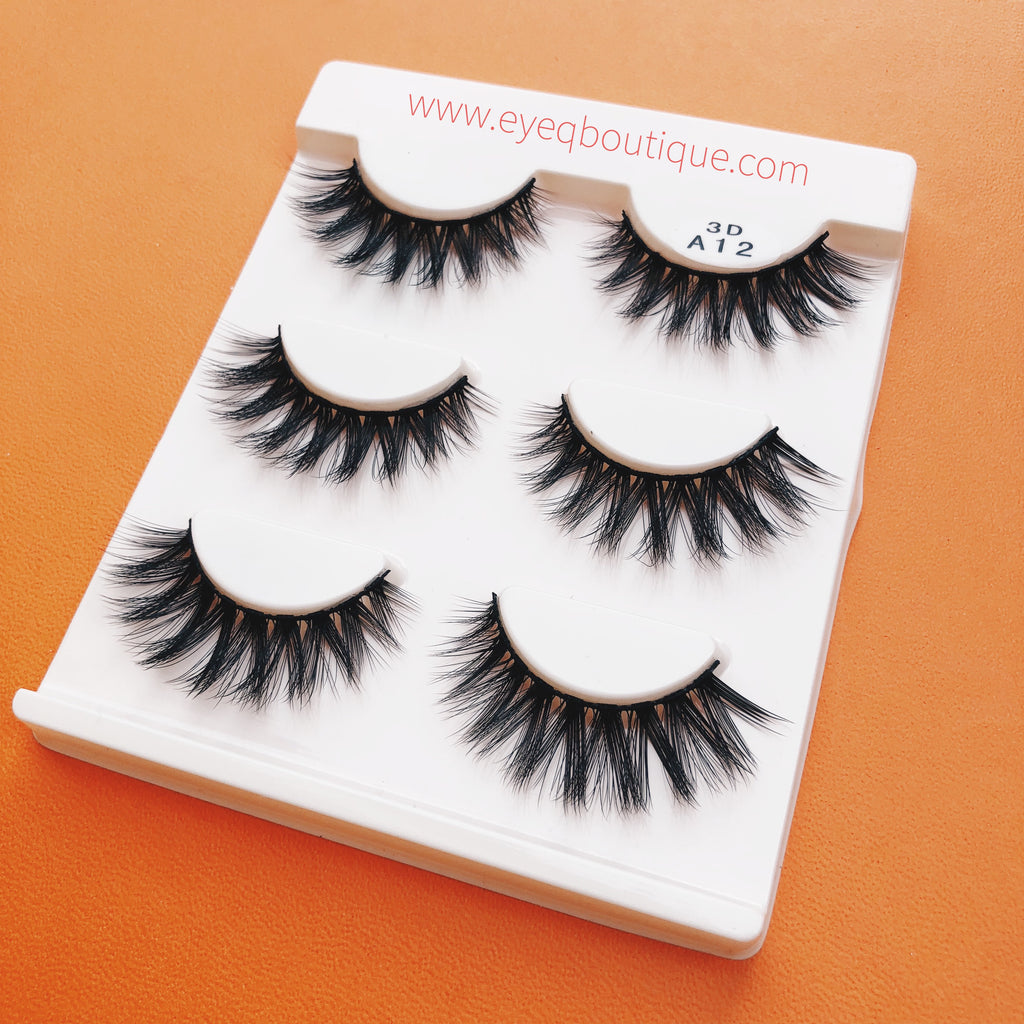SWEETY 3D LONG WISPY FALSE EYE LASHES 3 PAIRS (1 TRAY) FREE SHIPPING - EyeQ Boutique