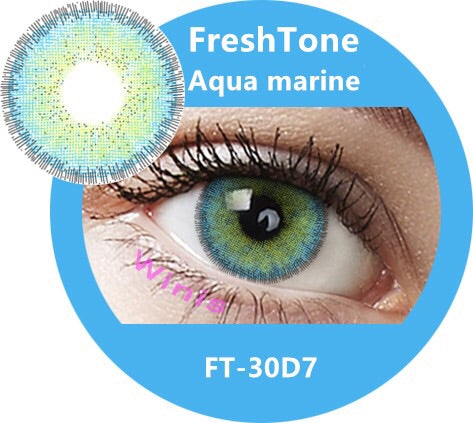 FRESHTONE DIVA AQUA MARINE COSMETIC COLORED CONTACT LENSES FREE SHIPPING - EyeQ Boutique