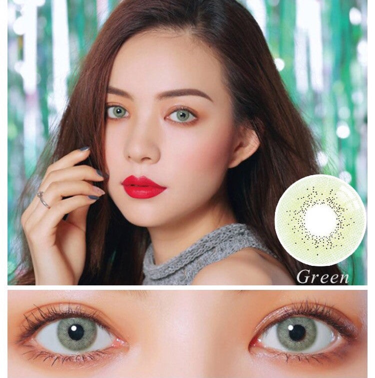 FRESHGO OCEAN SERIES GREEN COSMETIC COLORED CONTACT LENSES FREE SHIPPING - EyeQ Boutique