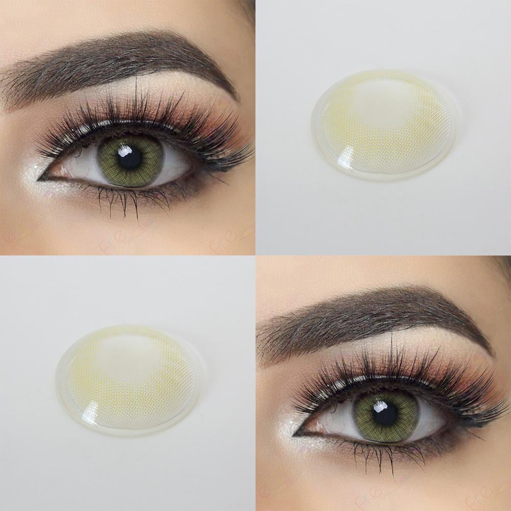 FRESHGO HIDROCOR II SKY GRAY (GREY) COSMETIC COLORED CONTACT LENSES FREE SHIPPING - EyeQ Boutique