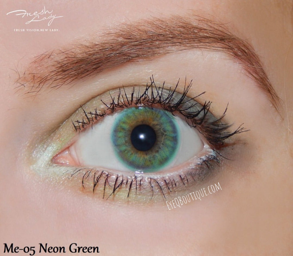 FRESHLADY NEON GREEN COLORED CONTACT LENSES COSMETIC FREE SHIPPING - EyeQ Boutique