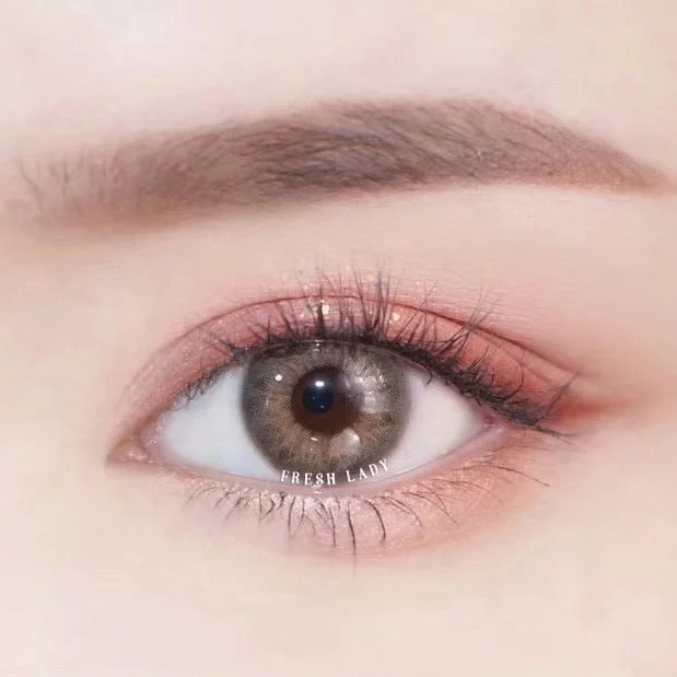 FRESHLADY DNA BROWN HAZEL COLORED CONTACT LENSES COSMETIC FREE SHIPPING - EyeQ Boutique