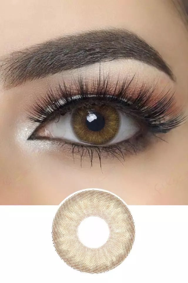 3CON HAZEL COLORED CONTACT LENSES COSMETIC FREE SHIPPING