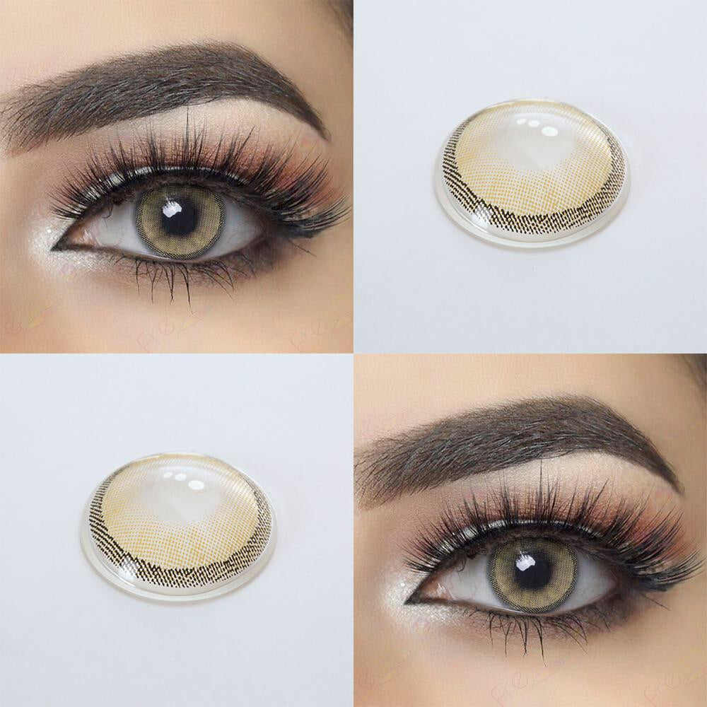 FRESHGO HIDROCHARME YELLOW (CRISTAL) COSMETIC COLORED CONTACT LENSES FREE SHIPPING - EyeQ Boutique