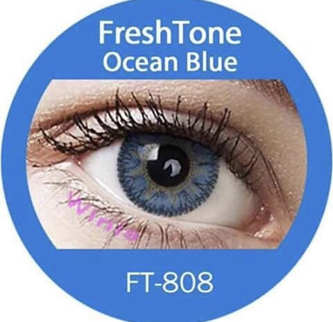 FRESHTONE OCEAN BLUE COSMETIC COLORED CONTACT LENSES FREE SHIPPING - EyeQ Boutique