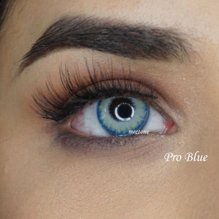 FRESHGO PRO BLUE COSMETIC COLORED CONTACT LENSES FREE SHIPPING - EyeQ Boutique