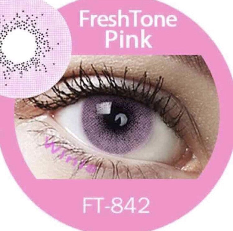 FRESHTONE SUPER NATURALS PINK COSMETIC COLORED CONTACT LENSES FREE SHIPPING - EyeQ Boutique