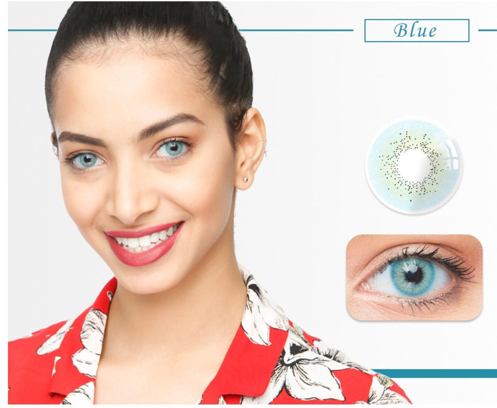 FRESHGO OCEAN SERIES BLUE COSMETIC COLORED CONTACT LENSES FREE SHIPPING - EyeQ Boutique