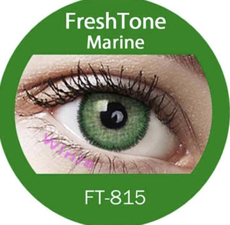 FRESHTONE MARINE COSMETIC COLORED CONTACT LENSES FREE SHIPPING - EyeQ Boutique