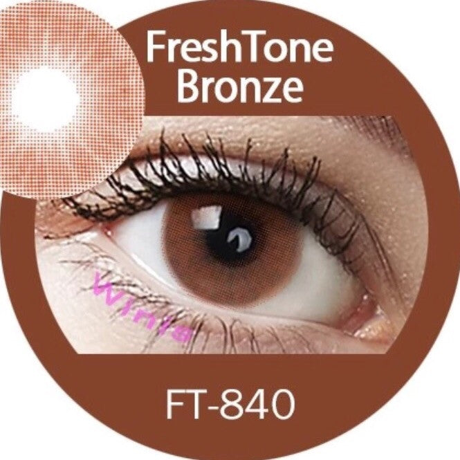 FRESHTONE SUPER NATURALS BRONZE COSMETIC COLORED CONTACT LENSES FREE SHIPPING (HIDROCOR) - EyeQ Boutique