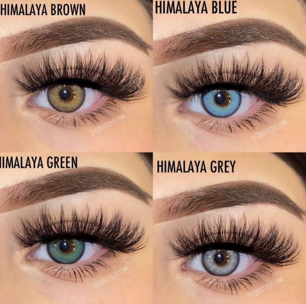 FRESHLADY HIMALAYA BLUE COLORED CONTACT LENSES COSMETIC FREE SHIPPING - EyeQ Boutique
