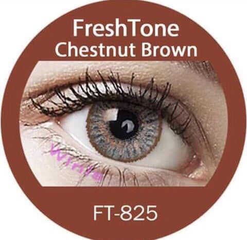 FRESHTONE CHESTNUT BROWN COSMETIC COLORED CONTACT LENSES FREE SHIPPING - EyeQ Boutique