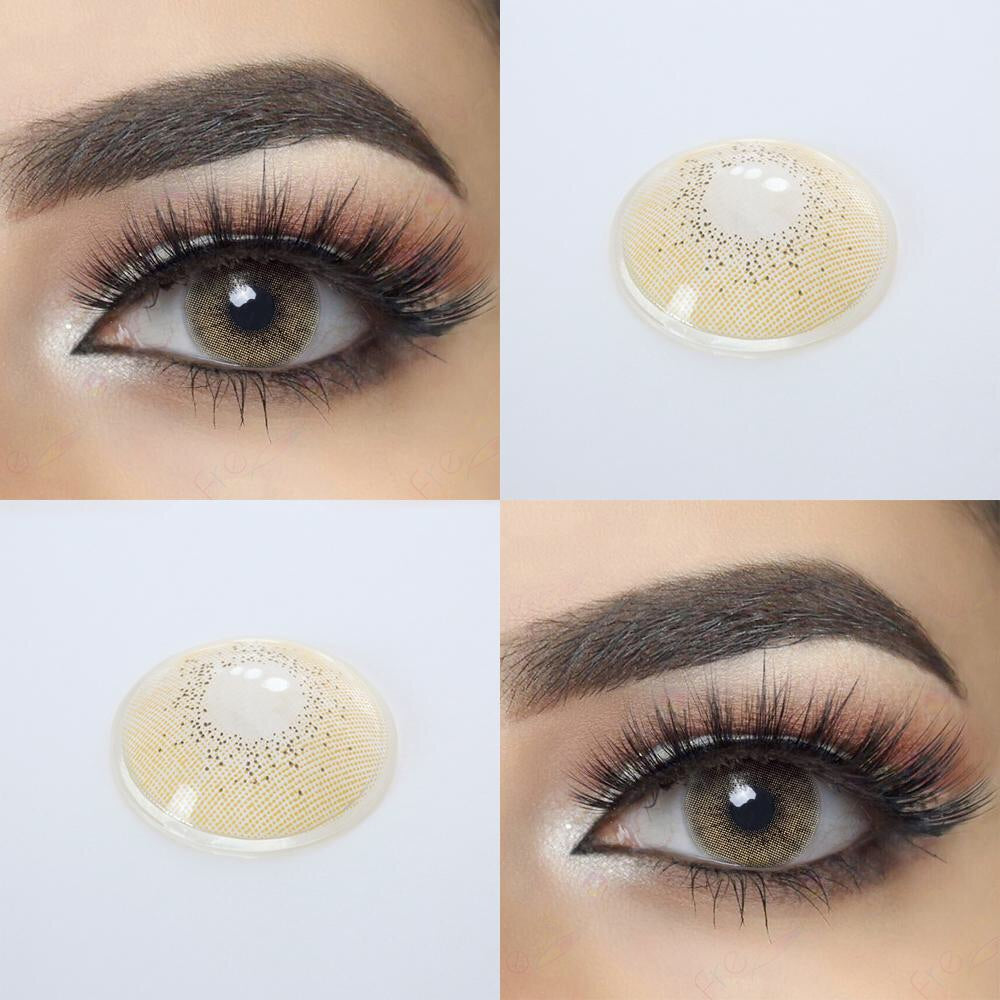 FRESHGO OCEAN SERIES JADE (BROWN - GREEN) COSMETIC COLORED CONTACT LENSES FREE SHIPPING - EyeQ Boutique