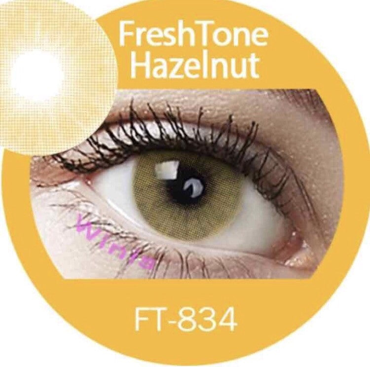 FRESHTONE SUPER NATURALS HAZELNUT COSMETIC COLORED CONTACT LENSES FREE SHIPPING (HIDROCOR) - EyeQ Boutique