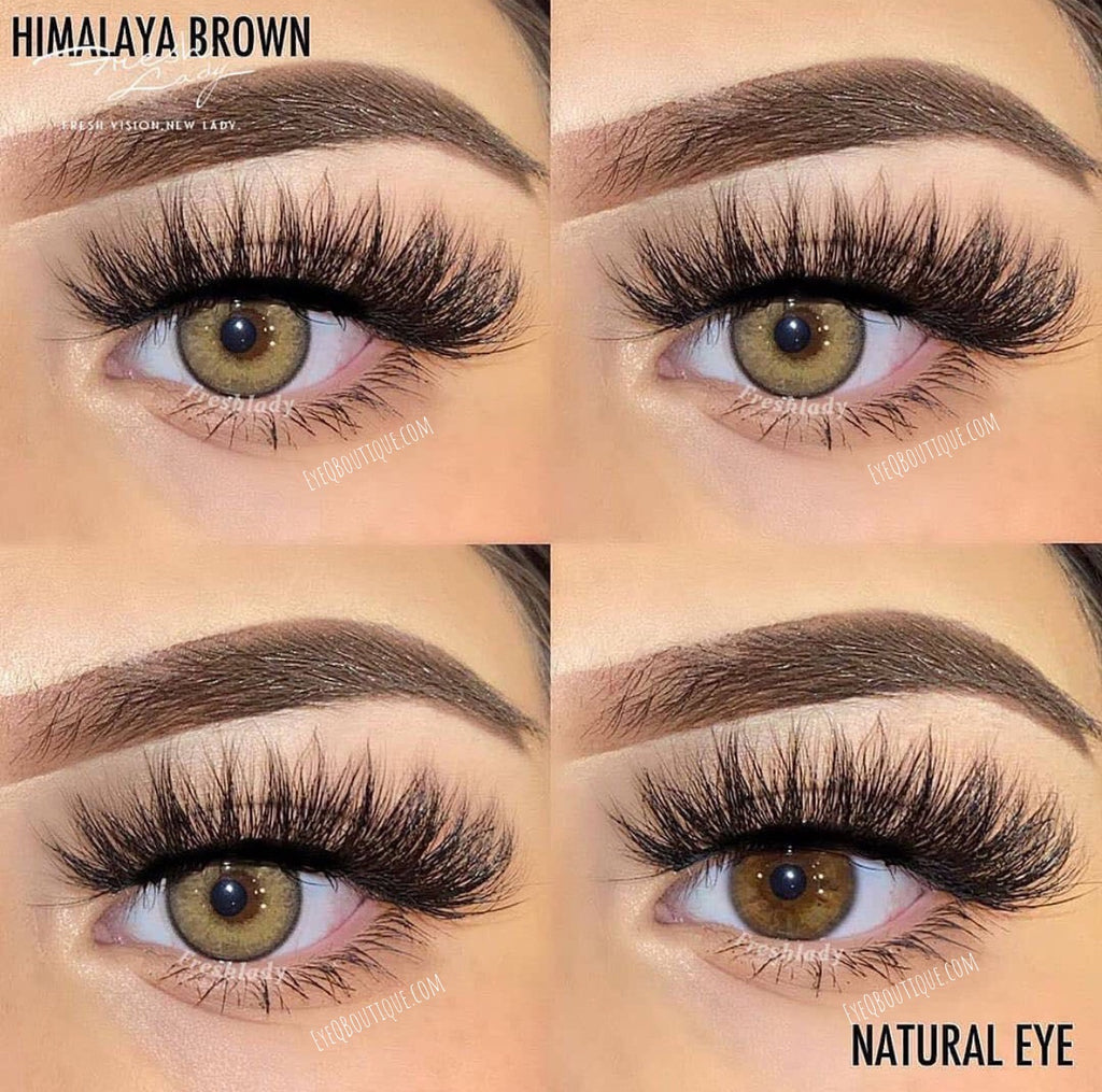 FRESHLADY HIMALAYA BROWN COLORED CONTACT LENSES COSMETIC FREE SHIPPING - EyeQ Boutique