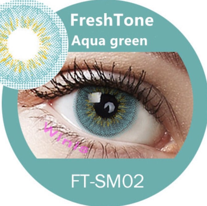 FRESHTONE DIVA AQUA GREEN COSMETIC COLORED CONTACT LENSES FREE SHIPPING - EyeQ Boutique