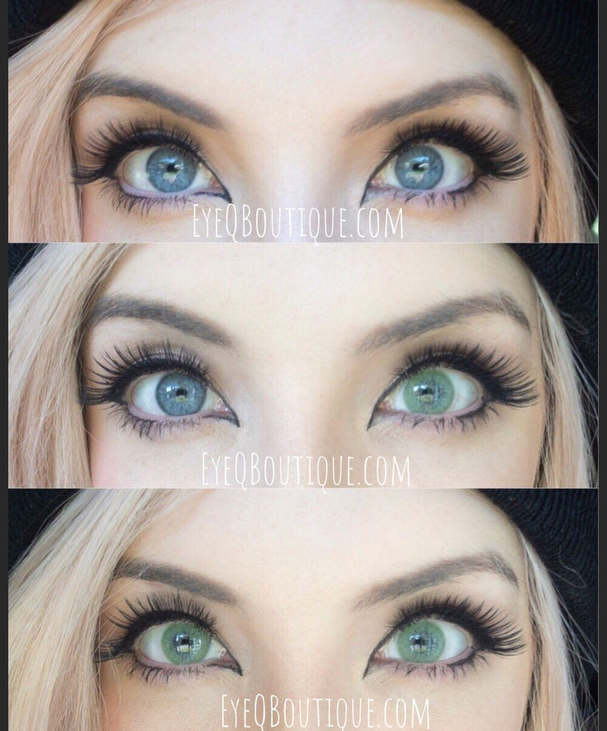 FRESHTONE SUPER NATURALS ICY GREEN COSMETIC COLORED CONTACT LENSES FREE SHIPPING - EyeQ Boutique