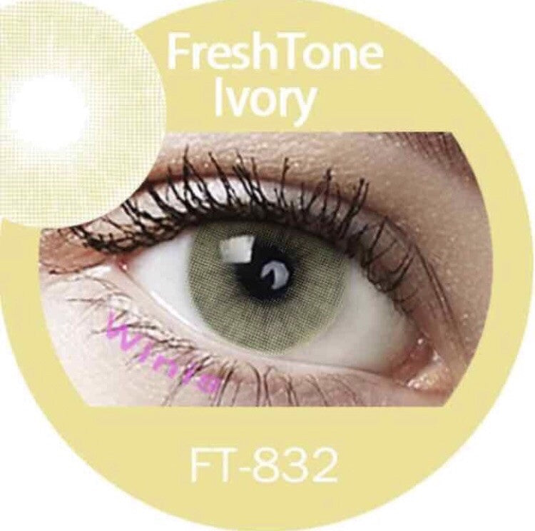 FRESHTONE SUPER NATURALS IVORY COSMETIC COLORED CONTACT LENSES FREE SHIPPING (HIDROCOR) - EyeQ Boutique