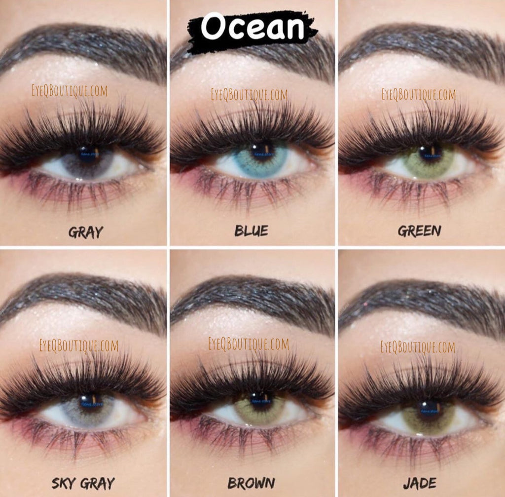 FRESHGO OCEAN SERIES GRAY (GREY) COSMETIC COLORED CONTACT LENSES FREE SHIPPING - EyeQ Boutique