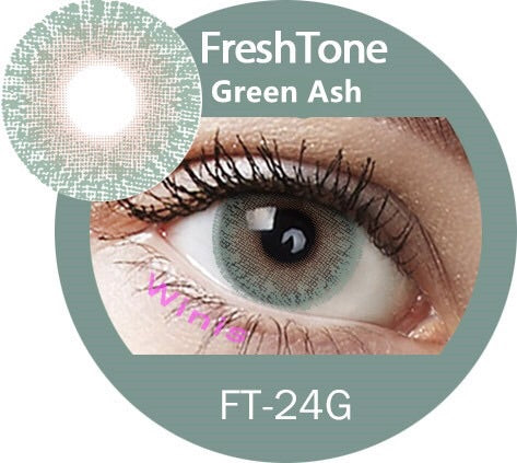 FRESHTONE GREEN ASH COSMETIC COLORED CONTACT LENSES FREE SHIPPING - EyeQ Boutique