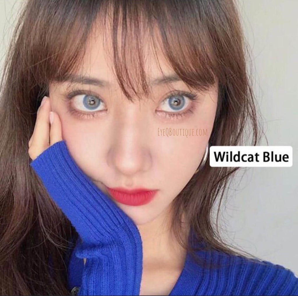 FRESHLADY WILDCAT BLUE COLORED CONTACT LENSES COSMETIC FREE SHIPPING - EyeQ Boutique