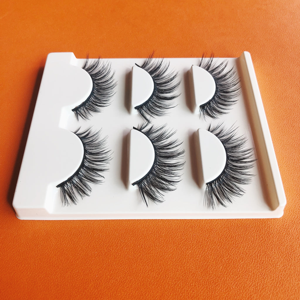ROMANCE 3D LONG VOLUME WISPY FALSE EYE LASHES 3 PAIRS (1 TRAY) FREE SHIPPING