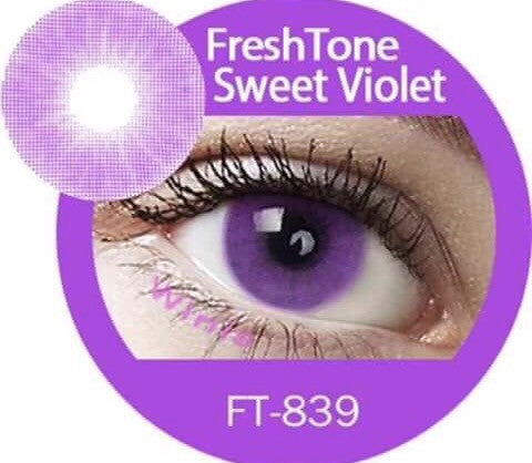 FRESHTONE SUPER NATURALS SWEET VIOLET COSMETIC COLORED CONTACT LENSES FREE SHIPPING - EyeQ Boutique