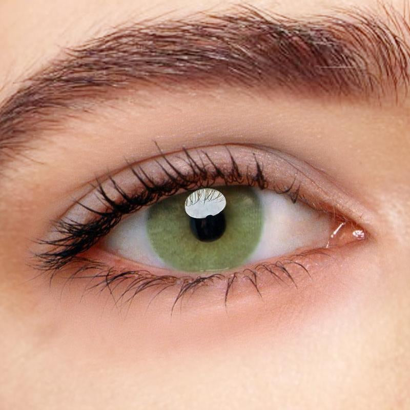 FRESHLADY POLAR LIGHTS YELLOW GREEN COLORED CONTACT LENSES COSMETIC FREE SHIPPING - EyeQ Boutique