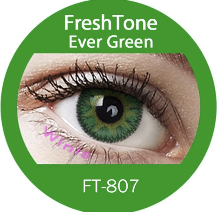 FRESHTONE EVER GREEN COSMETIC COLORED CONTACT LENSES FREE SHIPPING - EyeQ Boutique
