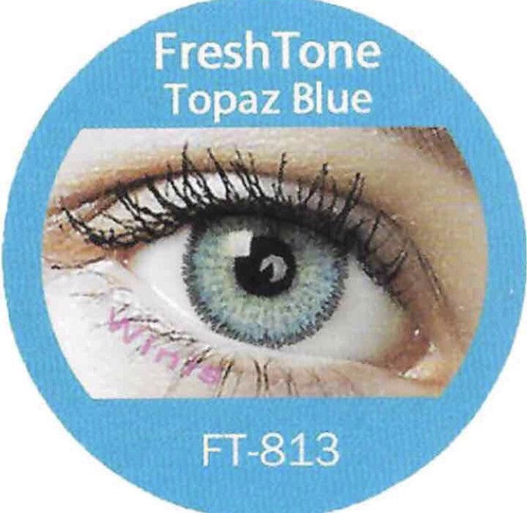 FRESHTONE TOPAZ BLUE COSMETIC COLORED CONTACT LENSES FREE SHIPPING - EyeQ Boutique