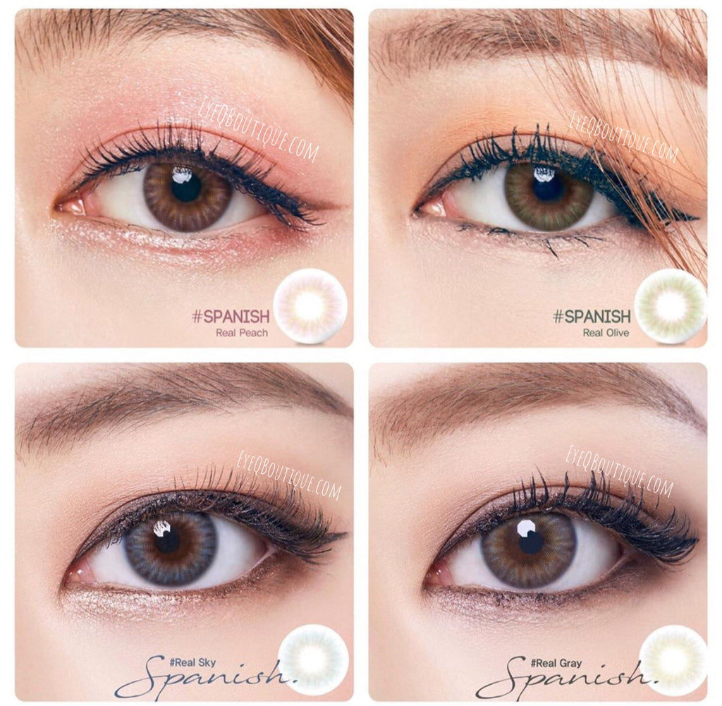 FRESHGO SPANISH SERIES REAL GRAY (GREY) COSMETIC COLORED CONTACT LENSES FREE SHIPPING - EyeQ Boutique