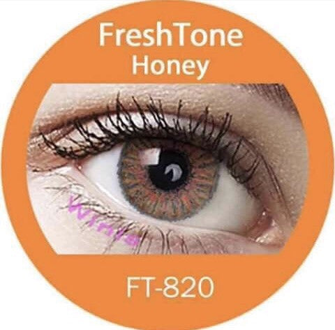 FRESHTONE HONEY COSMETIC COLORED CONTACT LENSES FREE SHIPPING - EyeQ Boutique