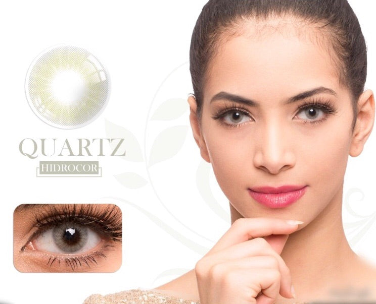 FRESHGO HIDROCOR QUARTZ (GREY GRAY) COSMETIC COLORED CONTACT LENSES FREE SHIPPING - EyeQ Boutique
