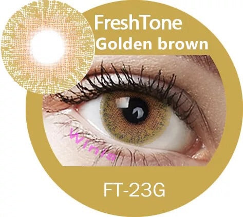 FRESHTONE GOLDEN BROWN COSMETIC COLORED CONTACT LENSES FREE SHIPPING - EyeQ Boutique